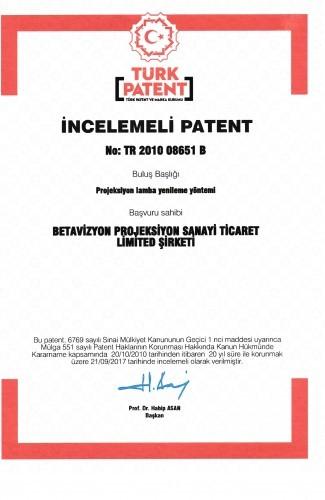 Betavizyon Patent 001